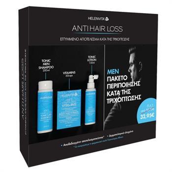 Helenvita Promo Anti Hair Loss Men Box Tonic Men Shampoo 200ml, Vitamins 60caps & Tonic Lotion 100ml
