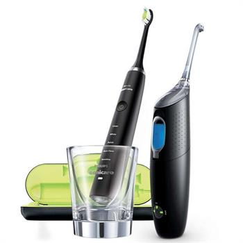 Philips Sonicare Set Diamand Clean Black & Sonicare Air Floss Ultra Black (HX8491/03)