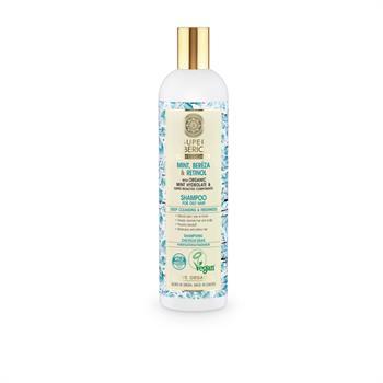 Natura Siberica Mint, Bereza & Retinol Σαμπουάν για βαθύ καθαρισμό και φρεσκάδα για λιπαρά μαλλιά 400ml