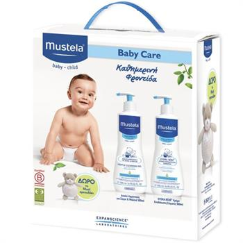 Mustela Gel Lavante Doux 500ml & Hydra-Bebe Lait Corps Body Lotion 500ml & Δώρο Αρκουδάκι
