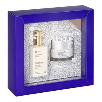 Panthenol Extra Femme Unique Gift Set Night Cream 50ml & Femme Bergamot Cedarwood Vanilla Eau de Toilette 50ml