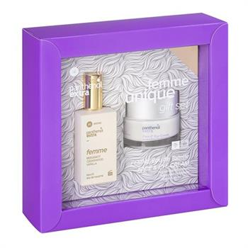 Panthenol Extra Femme Unique Gift Set Face & Eye Anti-Wrinkle Cream 50ml & Femme Bergamot Cedarwood Vanilla Eau de Toilette 50ml