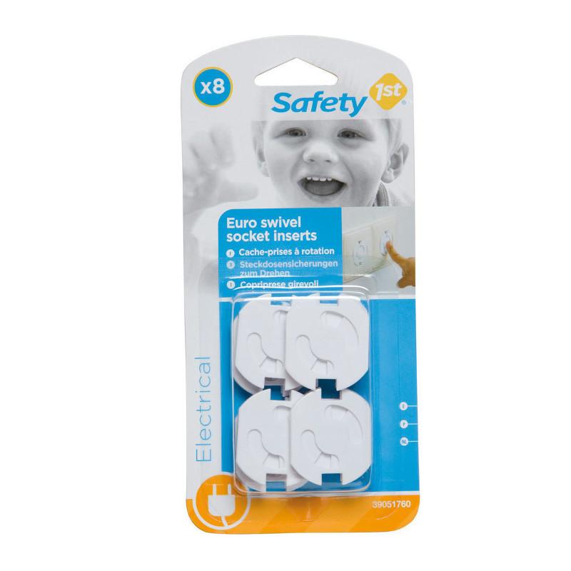 Safety 1st Ασφάλειες Πρίζας Περιστρεφόμενες (U01-39051-00) 8τμχ