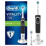 Oral-B Vitality 150 Cross Action Black Επαναφορτιζόμενη Ηλεκτρική Οδοντόβουρτσα 1τμχ