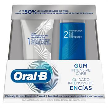 Oral-B Gum Intensive Care System Οδοντόκρεμα 85ml & Protection Gel 63ml