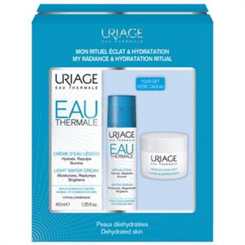 Uriage Set Eau Thermale Water Cream 40ml & ΔΩΡΟ Water Serum 10ml & Water Sleeping Mask 15ml