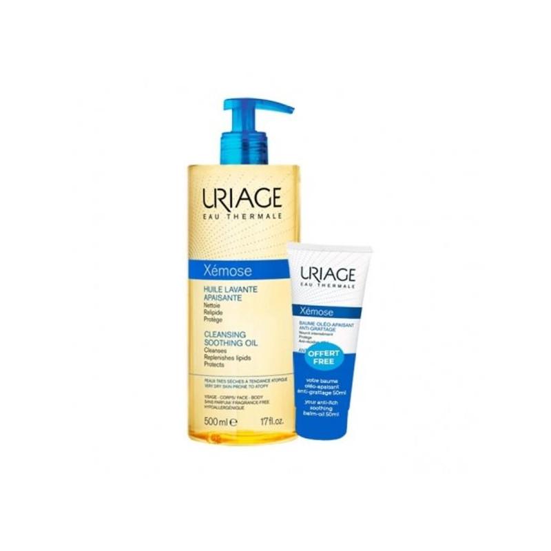 Uriage Set Xémose Ηuile Lavante Apaisante 500ml & Δώρο Xémose Oil Balm Apaisant 50ml