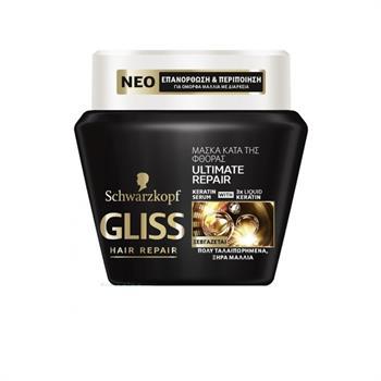Schwarzkopf Gliss Ultimate Repair Μάσκα για Πολύ Ταλαιπωρημένα Μαλλιά 300ml