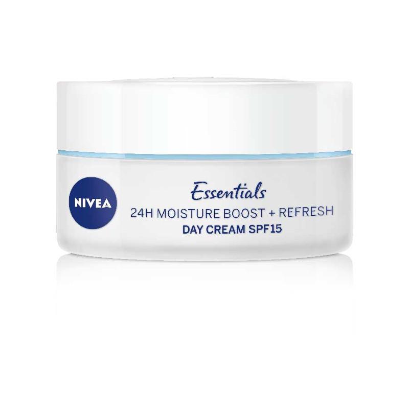 Nivea Essentials Moisture Boost SPF15 Kρέμα Ημέρας 24ώρης Ενυδάτωσης & Αναζωογόνησης 50ml