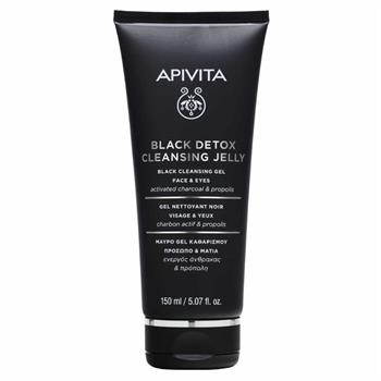 Apivita Black Detox Cleansing Jelly for Face & Eyes 150ml