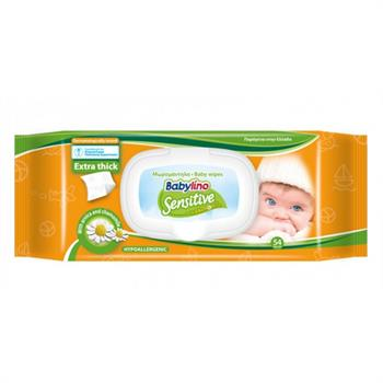Babylino Sensitive Wipes Chamomile 54τμχ