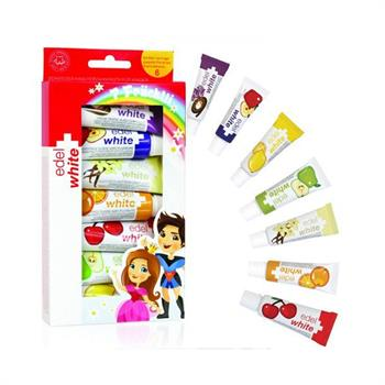 Edel White Παιδική Οδοντόκρεμα με 7 Γεύσεις Φρούτων 7x9.4ml