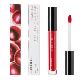 Korres Morello Matte Lasting Lip Fluid 53 Red Velvet 3.4ml