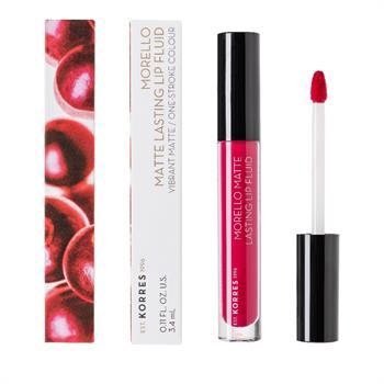 Korres Morello Matte Lasting Lip Fluid 29 Strawberry Kiss 3.4ml