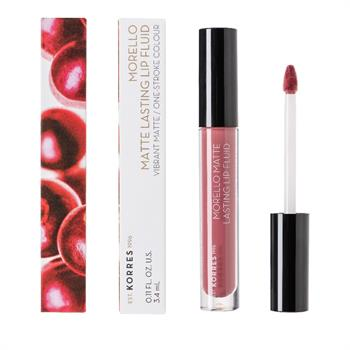 Korres Morello Matte Lasting Lip Fluid 10 Damask Rose 3.4ml