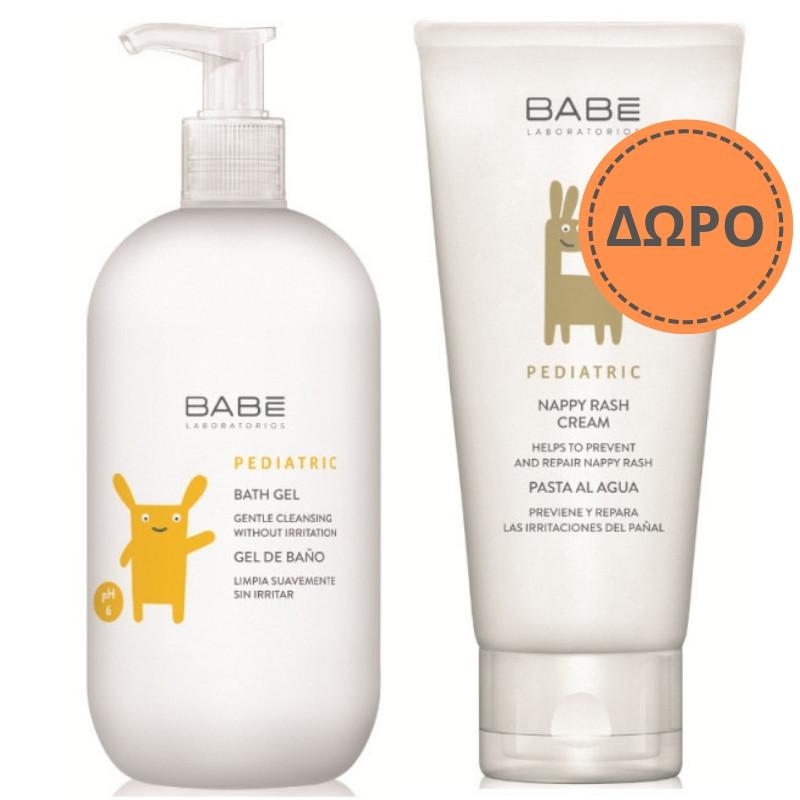 Babe Promo Pediatric Bath Gel Παιδικό Αφρόλουτρο 500ml & ΔΩΡΟ Pediatric Nappy Rash Βρεφική Κρέμα για Σύγκαμα 100ml