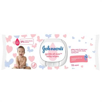 Johnson's Baby Gentle All Over Wipes 72τμχ