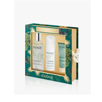 Caudalie Power Glow Essentials Set: Beauty Elixir 100ml & Instant Foaming Cleanser 50ml & Detox mask 15ml