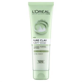 L'Oreal Pure Clay Purity Wash Gel Καθαρισμού Για Ματ Αποτελεσμα 150ml