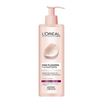L'Oreal Fine Flowers Cleansing Milk For Dry/Sensitive Skin 400 ml