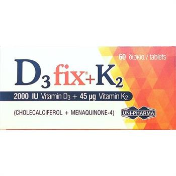 Unipharma D3 fix 2000 IU + K2 45 μg 60 tabs