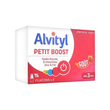 Alvityl Petit Boost Gelee Royal, 8 Vitamines, Zinc & Fer 8 αμπούλες 10ml