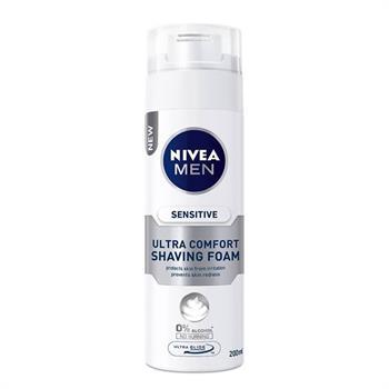Nivea Men Sensitive Ultra Comfort Αφρός Ξυρίσμτος 200ml