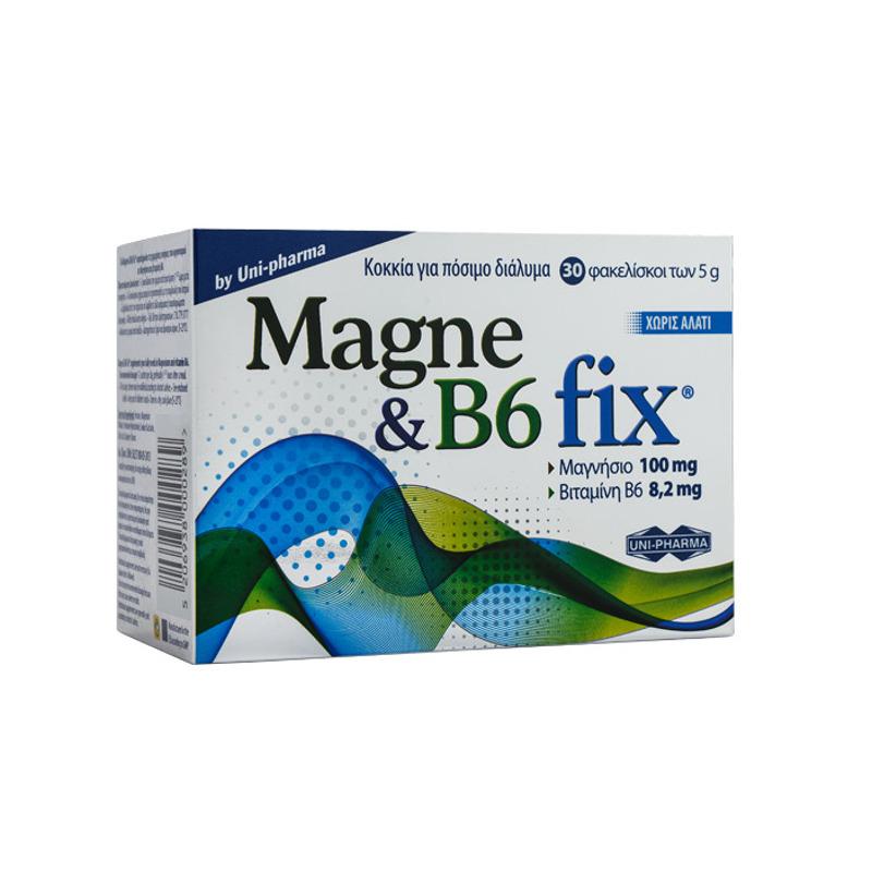 Uni-Pharma Magne & B6 Fix 30 Sachets