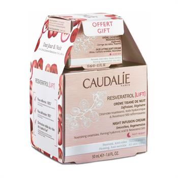 Caudalie Set Resveratrol Lift Night Infusion Cream 50ml + ΔΩΡΟ Resveratrol Face Lifting Soft Cream 15ml