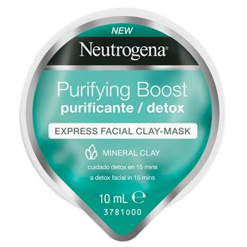 Neutrogena Purifying Boost Instant Facial Clay Mask Purificante Μάσκα Express σε Μορφή Κρέμας με Άργιλο 10ml