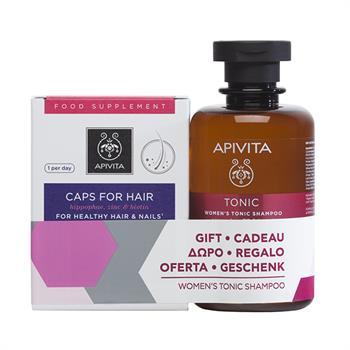 Apivita Set Women's Tonic Shampoo κατά της Γυναικείας Τριχόπτωσης 250ml & Caps For Hair Συμπλήρωμα Διατροφής για Υγιή Μαλλιά & Νύχια 30caps