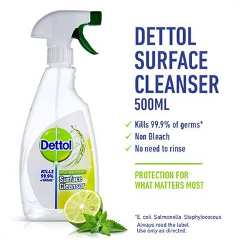 Dettol Spray Surface Cleanser Lemon 500ml