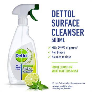 Dettol Spray Surface Cleanser Lemon 500ml