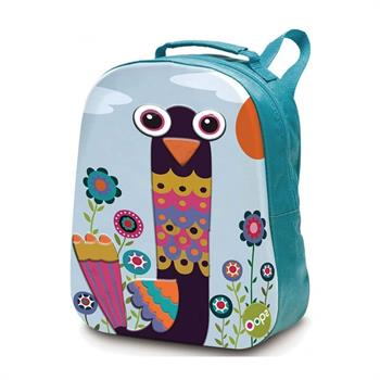 Oops Happy Backpack Μαλακή Τσάντα Πλάτης Παγώνι