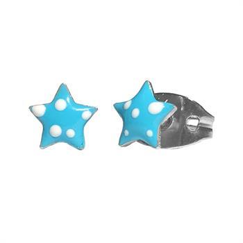 Farma Bijoux For Kids Σκουλαρίκια Μπλε Αστεράκια 5mm 1 Ζευγάρι