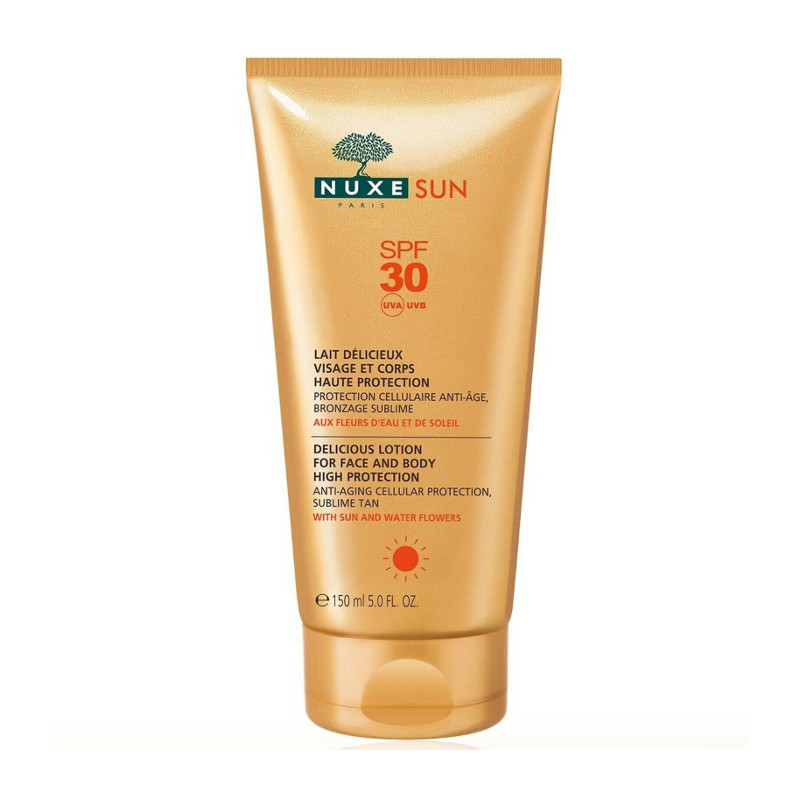 Nuxe Sun Delicious Lotion for Face & Body Αντηλιακό Γαλάκτωμα για Πρόσωπο και Σώμα SPF30 150ml
