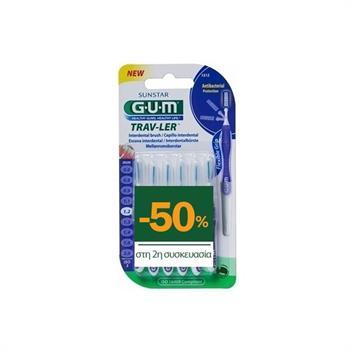 Gum 1512 Trav-ler Μεσοδόντια Βουρτσάκια Μωβ 1,2mm 6τμχ 1+1