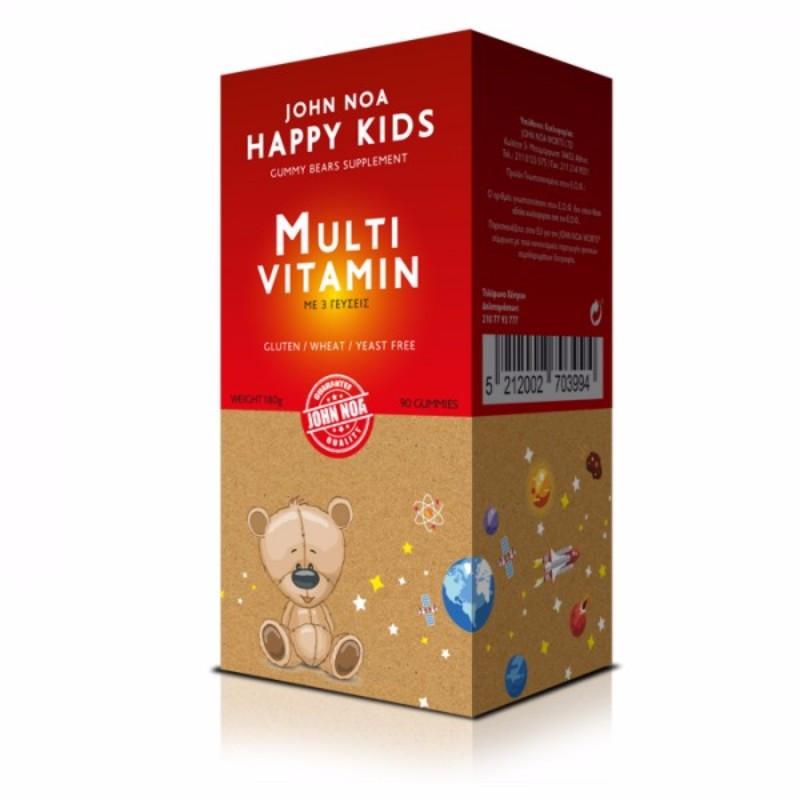 John Noa Happy Kids Gummy Bears Supplement Multi Vitamin Συμπλήρωμα Διατροφής για Παιδιά 180gr