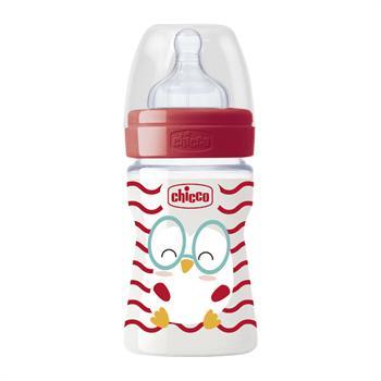 Chicco Πλαστικό Μπιμπερό Well Being Pop Friends Red Chicken Θηλή Σιλικόνης Αργή Ροή 0m+ 150ml (09500-00)