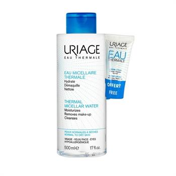 Uriage Thermal PROMO PACK Micellar Water 500ml Normal to Dry Skin & ΔΩΡΟ Water Cream 15ml