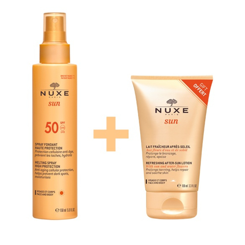 Nuxe Promo Pack Sun Spray Fondant Haute Protection SPF50 150ml & ΔΩΡΟ Sun Lait Fraicheur Apres Soleil 100ml