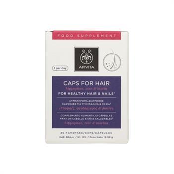 Apivita Caps For Hair Συμπλήρωμα Διατροφής για Υγιή Μαλλιά & Νύχια 30Caps