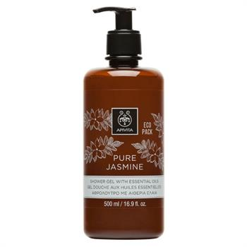 Apivita Pure Jasmine Shower Gel, Αφρόλουτρο Με Αιθέρια Έλαια 500ml