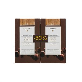 Korres Σετ Argan Oil Advanced Colorant Βαφή Μαλλιών 8,3 Ξανθό Ανοικτό Χρυσό/ Μελί 50ml 1+1 Με Έκπτωση 50% στο 2ο Προϊόν
