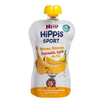 Hipp Φρουτοπολτός Sport με Μάνγκο, Μπανάνα, Πορτοκάλι, Αχλάδι & Ρύζι 120g