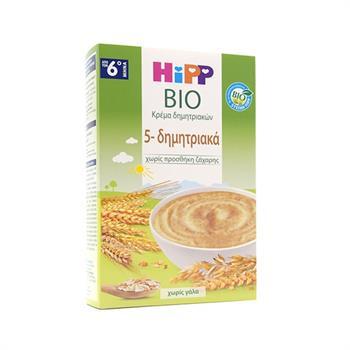 Hipp Κρέμα 5 Δημητριακών Χωρίς Γάλα Από τον 6ο Μήνα 200gr.