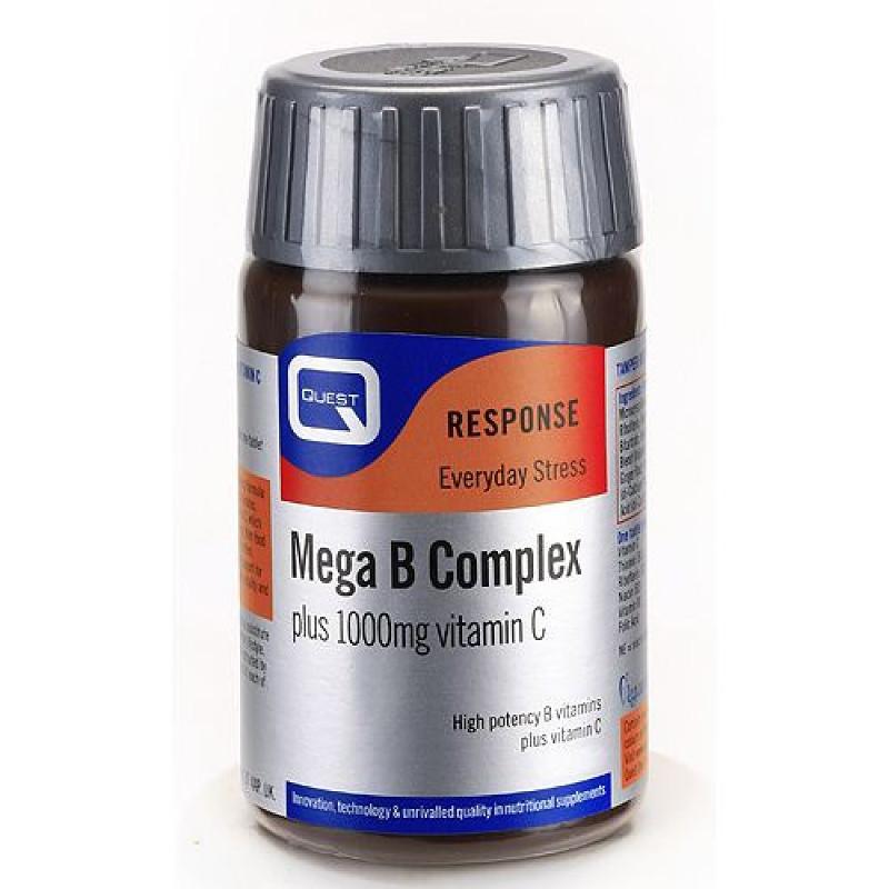Quest Mega B Complex Plus 1000mg Vitamin C 30tabs