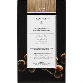 Korres Argan Oil Ageless Colorant Νο8.17 Ξανθό Ανοιχτό Μπεζ  50ml
