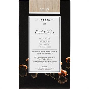 Korres Argan Oil Ageless Colorant Νο 10.17 Ξανθό Πλατίνας Μπεζ 50ml