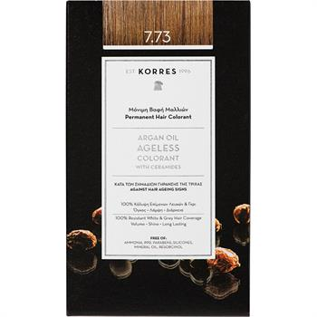 Korres Argan Oil Ageless Colorant 7.73  Μόνιμη Βαφή Μαλλιών Χρυσή Μόκα Βαφή Μαλλιών 50ml
